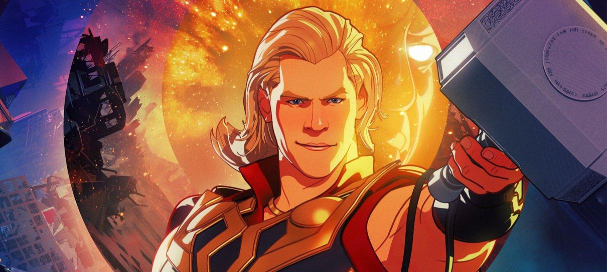 Thor aparece em novo pôster de What If…?, a série animada da Marvel