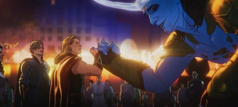 Thor e Loki em What If...? (Divulgação)