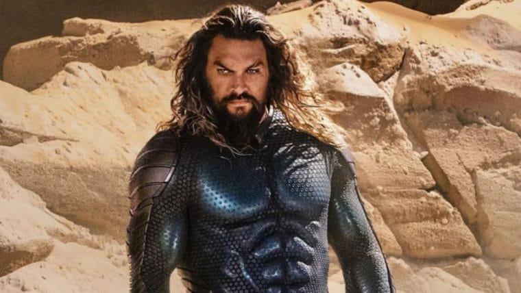 """Jason Momoa se machuca no set de Aquaman 2 e diz que """"está ficando velho"""""""