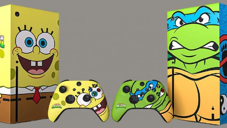 Xbox lança versões customizadas do Series X inspiradas em Bob Esponja e Tartarugas Ninja
