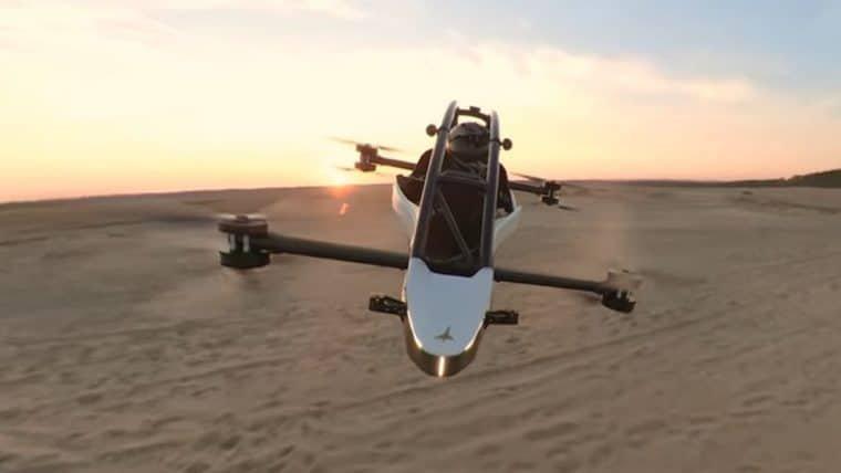 Este veículo voador é ótimo para evitar engarrafamentos ou fazer uma corrida de pods