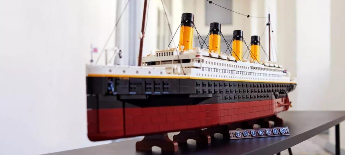 LEGO revela set inspirado em Titanic que custa US$ 629,99 e é o maior já lançado