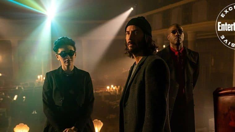 Neo e novo Morpheus são destaques em fotos inéditas de Matrix Resurrections