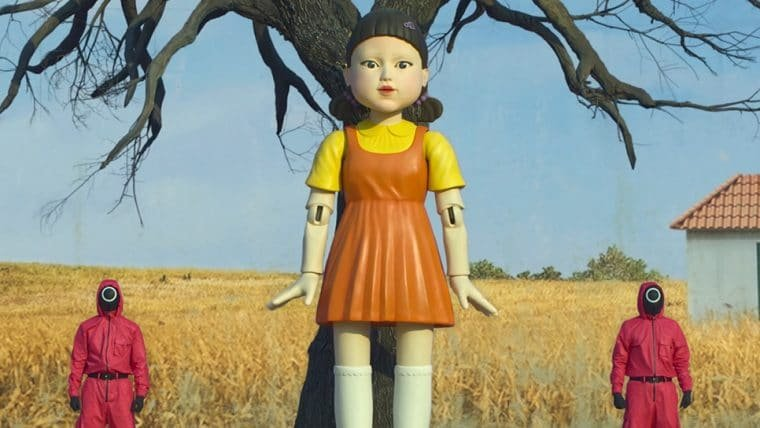 Netflix instala réplica da boneca de Round 6 em shopping nas Filipinas