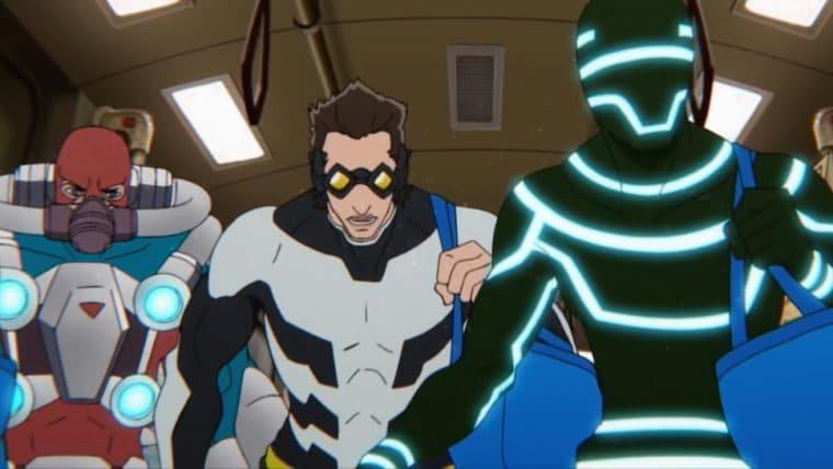 Supervilões se unem para grande assalto no trailer de Super Crooks, novo anime da Netflix