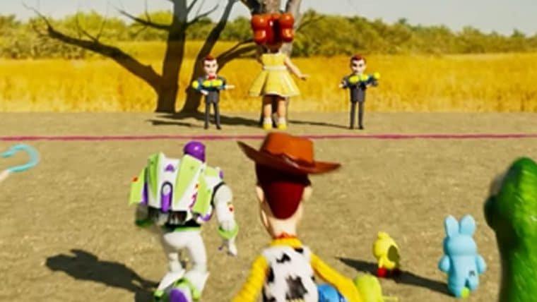 Brinquedos de Toy Story brincam de Round 6 em vídeo de fã