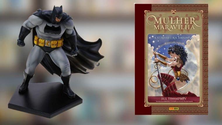 Veja uma lista de produtos de Batman, Mulher-Maravilha e outros personagens da DC