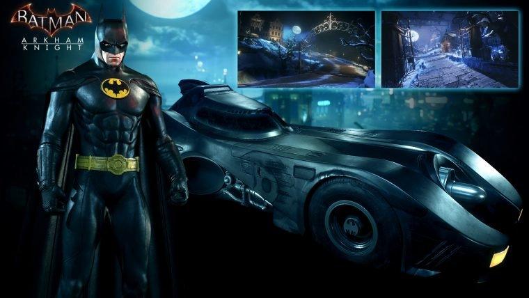 Batmóvel e roupa do Batman de 89 serão adicionados em Arkham Knight