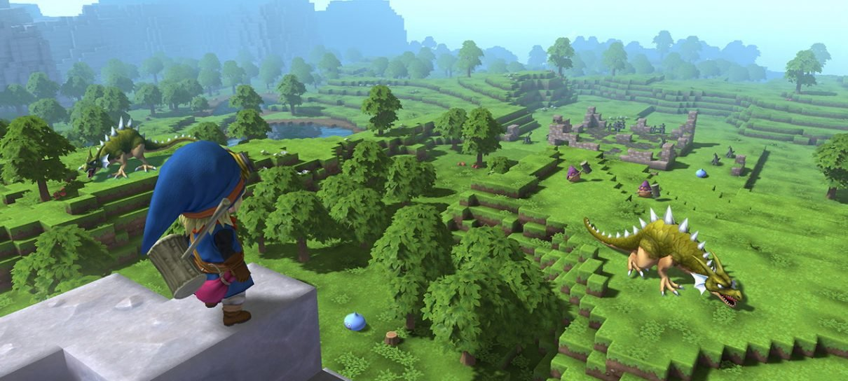O novo Dragon Quest parece com Minecraft