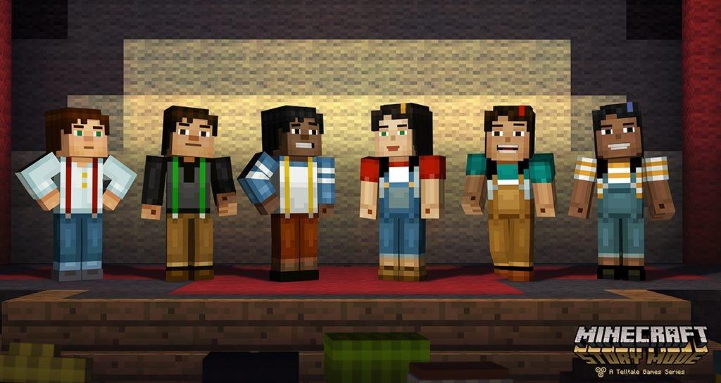 Você escolhe o visual e o sexo do seu personagem em Minecraft: Story Mode