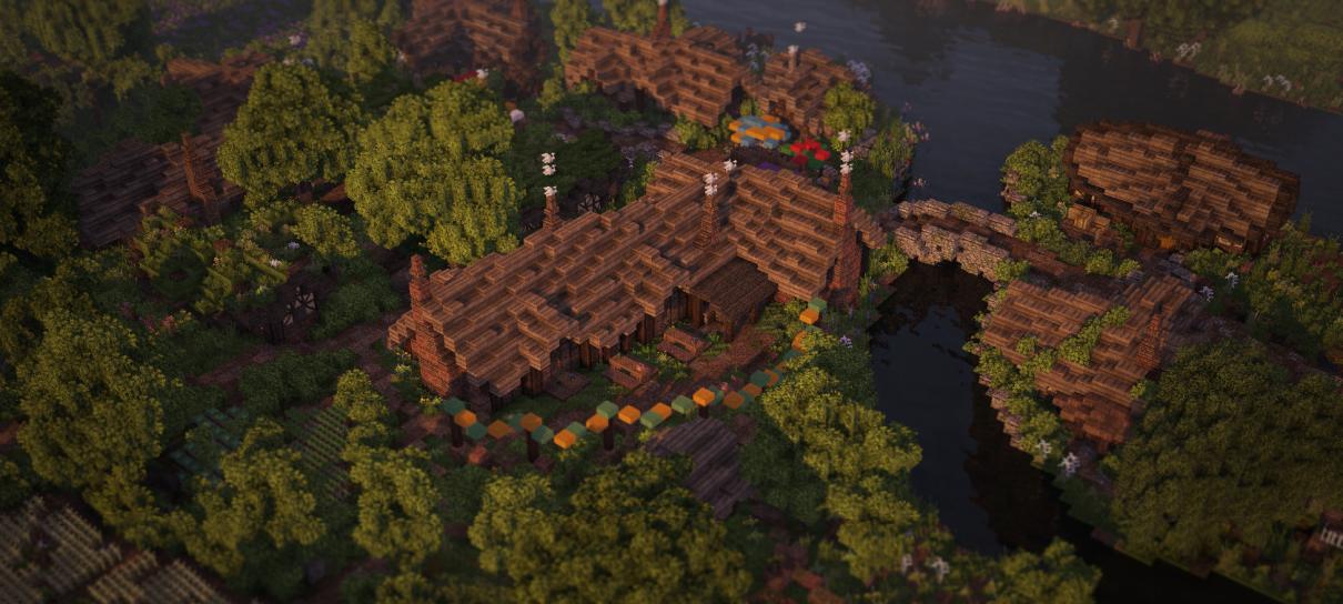O Condado, de Senhor dos Anéis, foi recriado em Minecraft