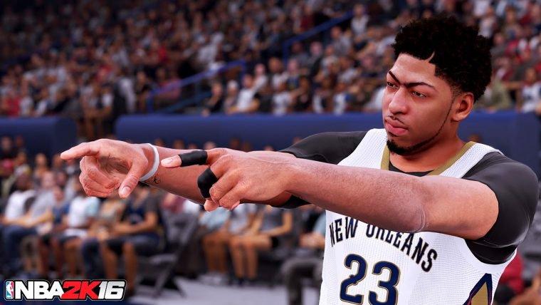 Vídeo de NBA 2K16 mostra Anthony Davis em ação