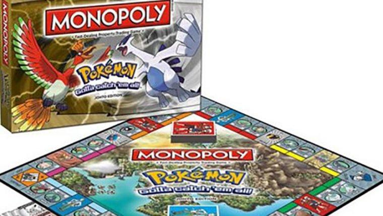 Pelo mundo viajarei tentando encontrar este Monopoly: Pokémon - Johto Edition
