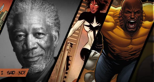 Morgan Freeman não pilota Mighty Avengers!