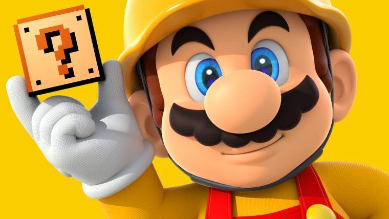 Crie seu papel de parede de Super Mario Maker com site da Nintendo