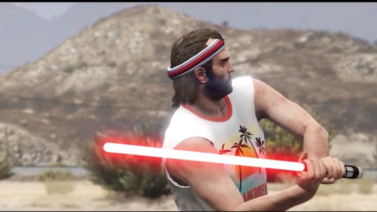 Vídeo coloca sabres de luz em GTA V