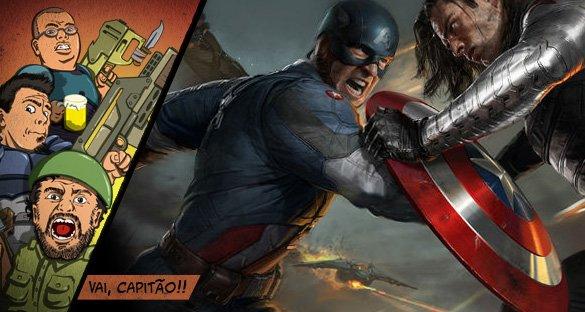 Capitão América 2 e… ESCUDO NA CARA!