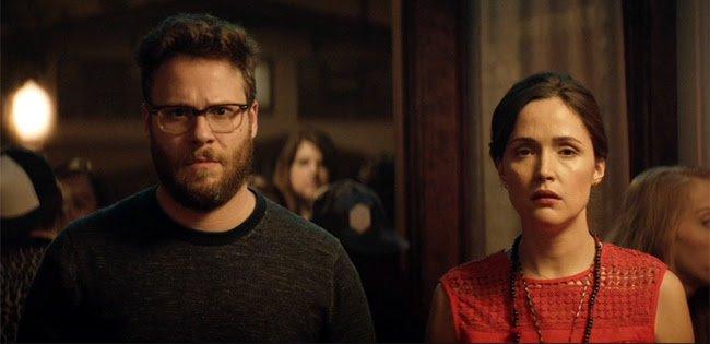 Seth Rogen e Rose Byrne tentam se livrar de uma fraternidade no trailer de Vizinhos 2