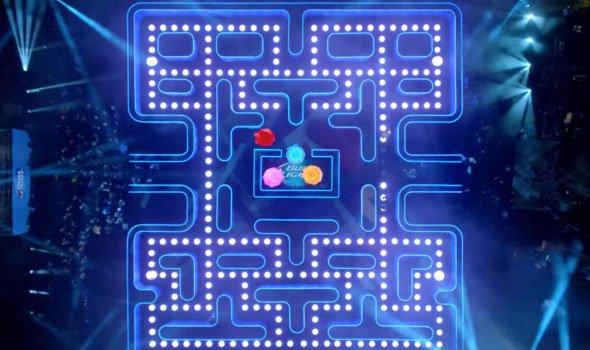 Comercial cria um jogo de Pac-Man em