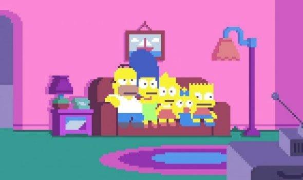 Abertura de Os Simpsons é recriada em PixelArt