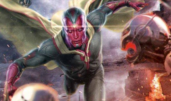 Arte de Os Vingadores: A Era de Ultron mostra o Visão