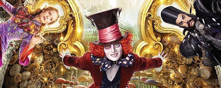 Pôster de Alice Através do Espelho apresenta os personagens