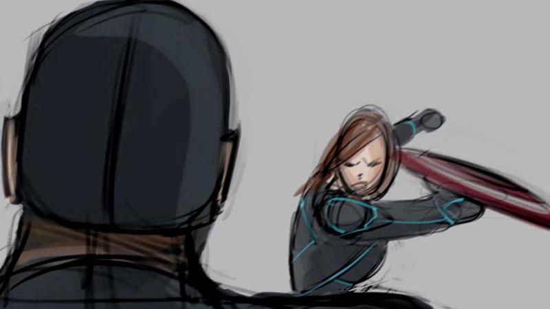 Capitão América: Guerra Civil   Veja o storyboard de uma cena deletada do filme