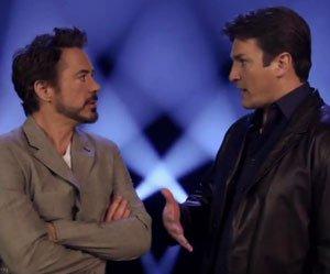 Nathan Fillion e Robert Downey Jr. juntos num dos vários novos vídeos de Os Vingadores!