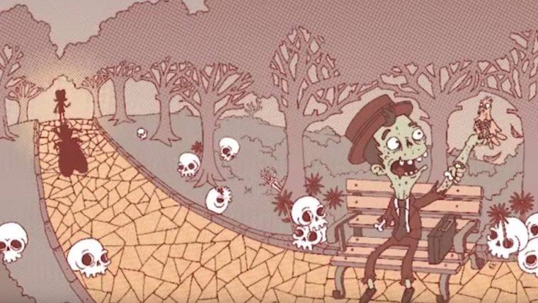 Entardecer dos Mortos é uma HQ sobre um zumbi vendedor de sabonetes