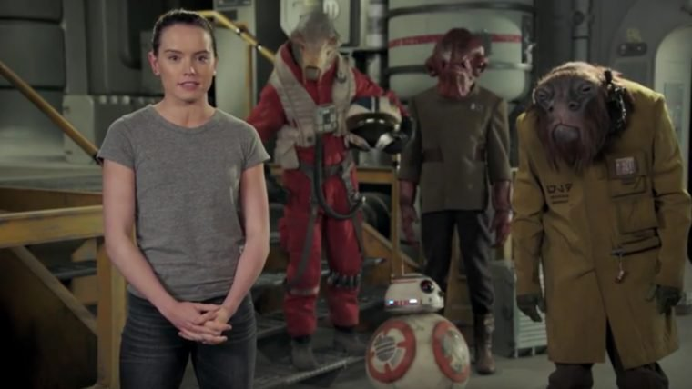 Daisy Ridley deseja um feliz dia de Star Wars