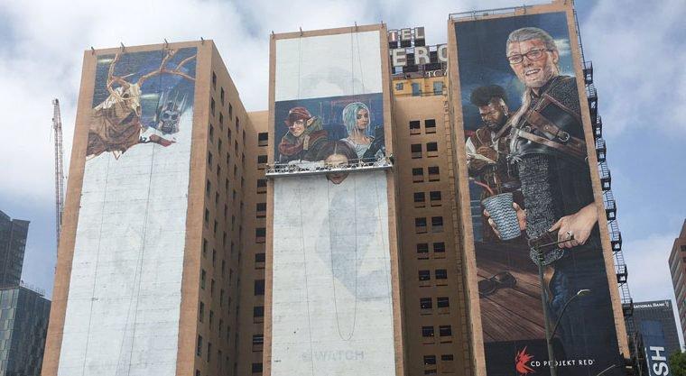 CD Projekt coloca imagens gigantes de possível novo jogo em prédios