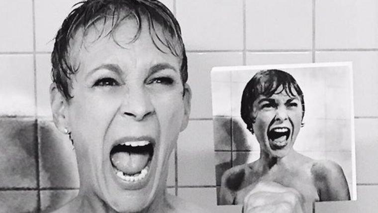 Jamie Lee Curtis recria a cena do chuveiro de Psicose em Scream Queens