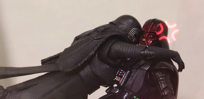 Kylo Ren só quer ser notado pelo senpai Darth Vader neste curta
