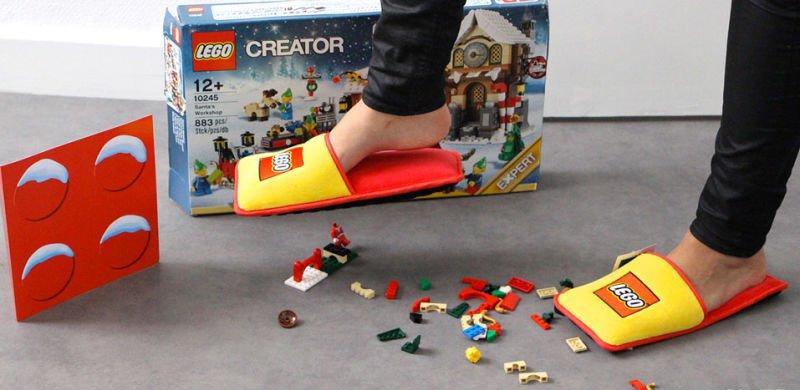 LEGO criou pantufas especiais para proteger os seus pés contra as pecinhas
