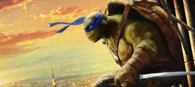 Tartarugas não tem medo de altura nos pôsteres de As Tartarugas Ninja: Fora das Sombras
