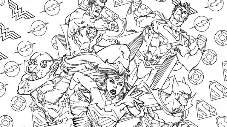 DC lança HQs com capas alternativas para colorir
